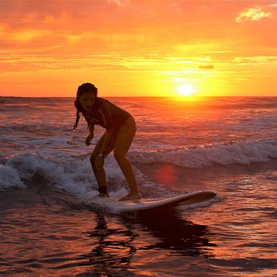 Surf sunset in Dominical