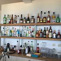 Almyra Beach Bar's Bar.