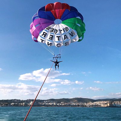 Parasailing with a great view!