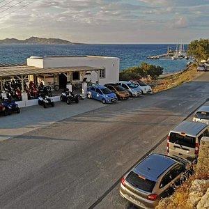 ML rent a car Paros, Our car rental station in Piperi beach Naoussa