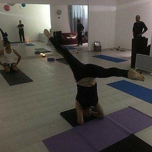 Class at Yoga Paphos studio.