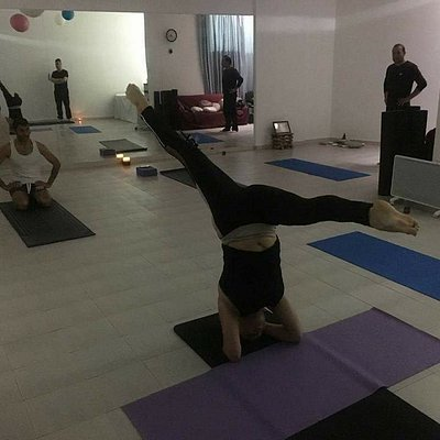 Class at Yoga Paphos studio.