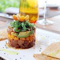 Tuna Tartar at Lolha Restaurant for dinner!