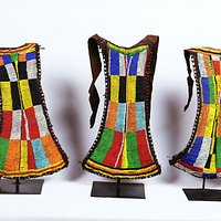 beaded skirts,from turkana tribe,they were worn by young unamarried girls ,beautiful old beads, is assorted colours and back is all leather,