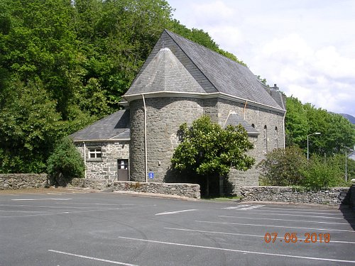Private car park belonging to The Most Holy Redeemer Catholic Church (Porthmadog)