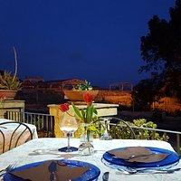 la terrazza con vista sul quartiere Ellenistico Romano
