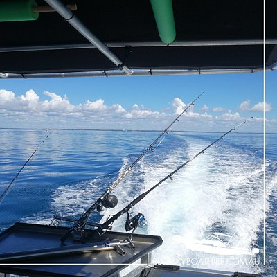 Blue Sky Boat Hire Hervey Bay BBQ Pontoon Boat Hire Fishing on BBQ Pontoon Boat