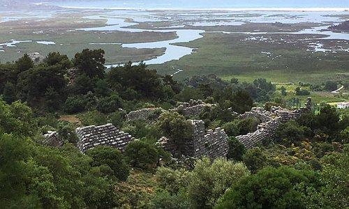 Kaunos walls, the Dalyan delta and Iztuzu beach