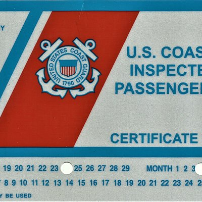 READ before you RIDE! Make sure you are boarding a U.S. Coast Guard Inspected Vessel for your SAFETY!