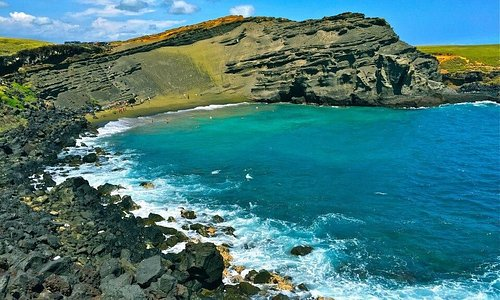 Green Sand Beach was a favorite on the Big Island!