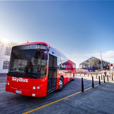 SkyBus Hobart Express has a stop conveniently located at Brooke Street Pier where the MONA ferry departs.