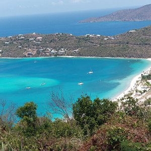 Magen's bay beach from Drake's seat