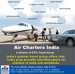All types of Charters by Air Charters India