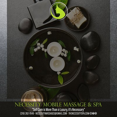 The Necessity Spa delivers quality service to your home, hotel, or place of business.