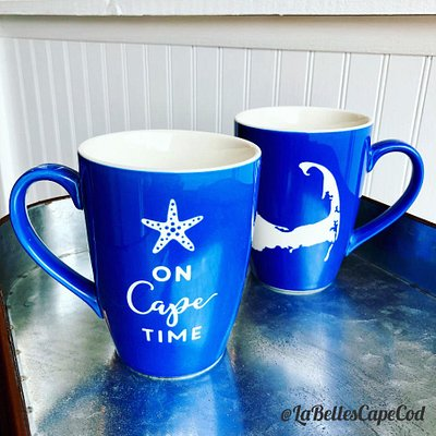 On Cape Time mugs are a popular souvenir selection.