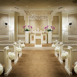 The beautiful and welcoming West Chapel at Treasure Island Hotel & Casino