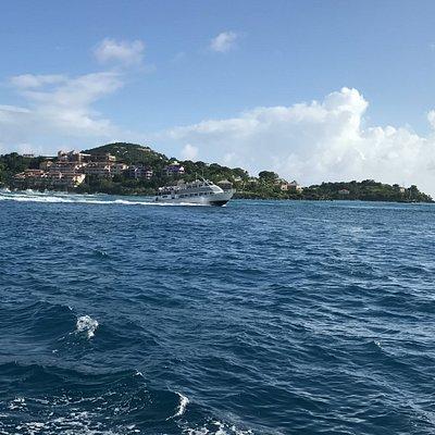 Crown Bay Ferry departing St. John.