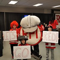 RPI fans with old school puckman!! Let's Go Red!!
