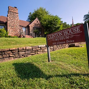 Clinton House Museum, tucked away at 930 W. Clinton Drive in Fayetteville, Arkansas.