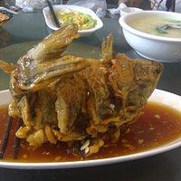 糖醋黃河鯉魚 奶湯蒲菜