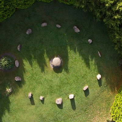 Arial View of Kenmare Stone Circle, one of the stops on the Kenmare Guided Town Walk