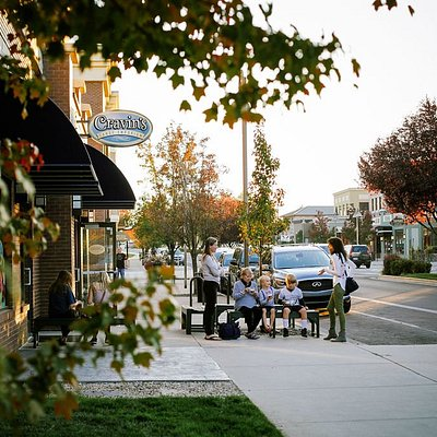 """The cutest area: Bown Crossing in East Boise! Lots of restaurants and shops.  This is where you can find Cravin's Candy Emporium. A legit """"Old School"""" candy store."""