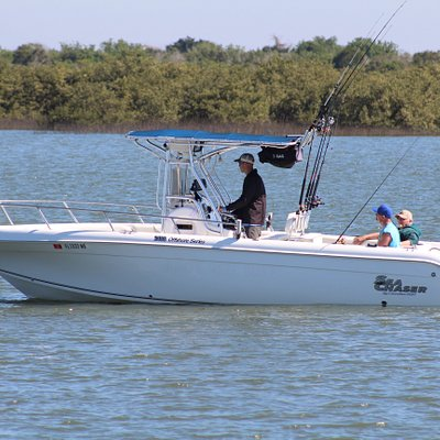 24' sea chaser with a 250hp four stroke Yamaha provides a comfortable and safe day at sea.