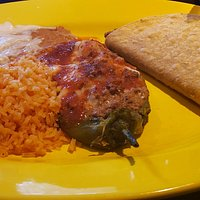 My taco and chile relleno
