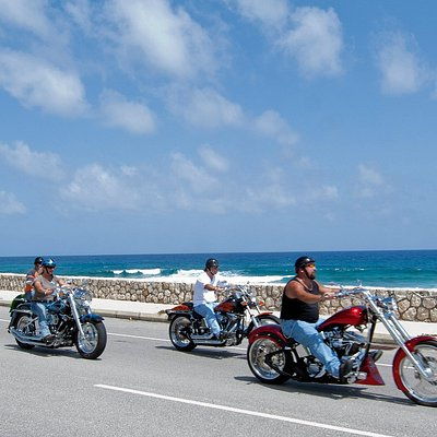 Come along with us on a tour of Grand Cayman's culture and amazing views with the wind in your face and the best seat in the house on one of our custom motorcycles!