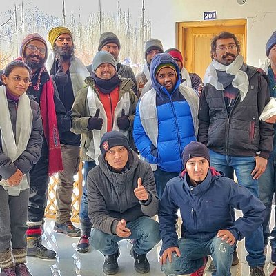 A warm welcome to our first batch with a Ladakhi good luck