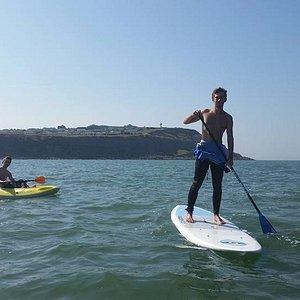 Stand up paddle et kayak en route pour le cap d'Alprech (Le Portel)