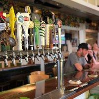 Bar taps at Shenanigan's Irish Pub