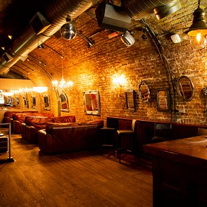 We've recently made some changes at The Scotch Windsor to our sofa area. New lights, mirrors, stools and toilets. We've added a curtain and portable DJ Booth so this area can be used early on a Friday and Saturday which will make it more intimate.  Also perfect for a smaller party with exclusive hire.