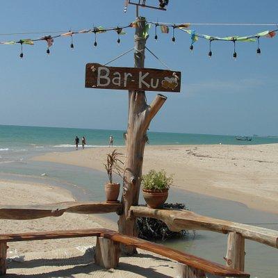 Bar-Ku on the beach