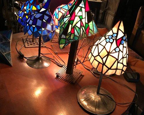 lampe de chevet de Robert Galgoczi la luminologie Ö art du verrier de Pontorson