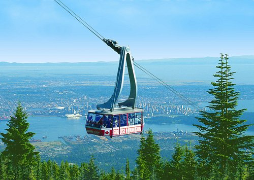 Enjoy breathtaking views of the City, ocean and mountains as you as you ascend 2,800 ft. from the Lower Terminal to the Peak Chalet.