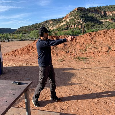 It is so much fun to watch someone shoot a fun for the first time!