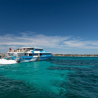 Quokka 1 arriving on Rottnest Island