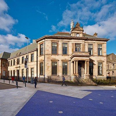 Outside of Maryhill Burgh Halls in Glasgow
