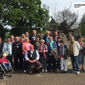 Another happy group on tour with George, one of our amazing team of first class tour guides. If you would like to have an amazing time during your day in the port of Invergordon, click on TOUR FINDER on www.invergordon-bustours.com and enter a date, in order to check availability.