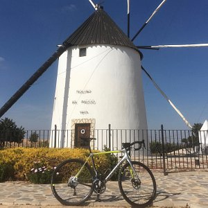 Visited the windmill during one of Etiquette Cycling's guided rides.