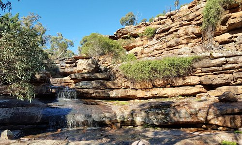 Store Creek. This beautiful natural amphitheater is waiting beyond the end of the walking track.