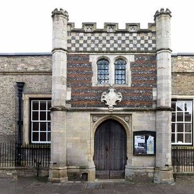 The main entrance at Bury St Edmunds Guildhall, step through the door of England's oldest civic building and discover 800 years of history as well as looking to the future.