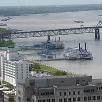 View of the Queen from Baton Rouge State Building observation gallery