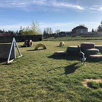 The dog park is located (41 47 Ave, Lloydminster, SK S9V 2C7) it's well maintained and big , nothing special lots of grass for the pooches and a little obstacle course lol