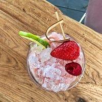 frozen strawberry daiquiri summons up hot summer days