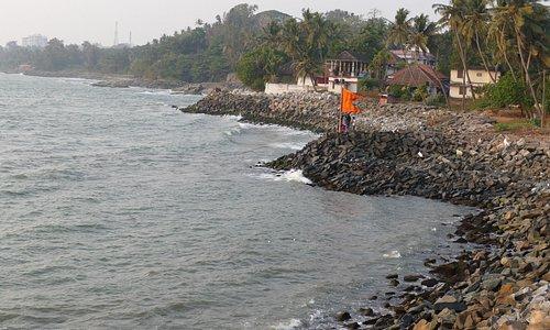 The Thalasseri sea coast around
