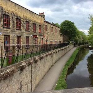 View of the Museum from the bridge over the canal.
