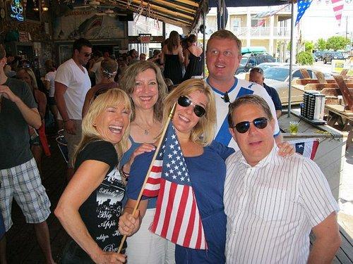 Patriotic friends