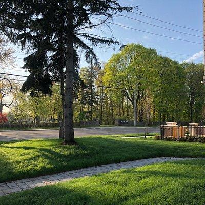 across the street @ Windfields Park